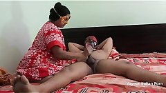 Desi MILF Seducing Young College Boy In Absence Of Her Husband