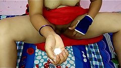 Indian aunty boob'_s &amp_ pussy massage