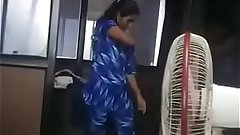 Indian Tamil girl adithi changed her dress in office infromt of her boss